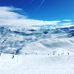 Snow Boarden in den Bergen
